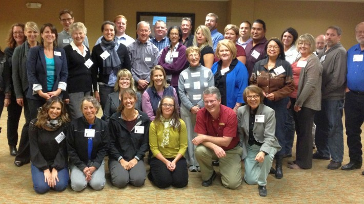 RTS workshop participants in River Canyon Country.