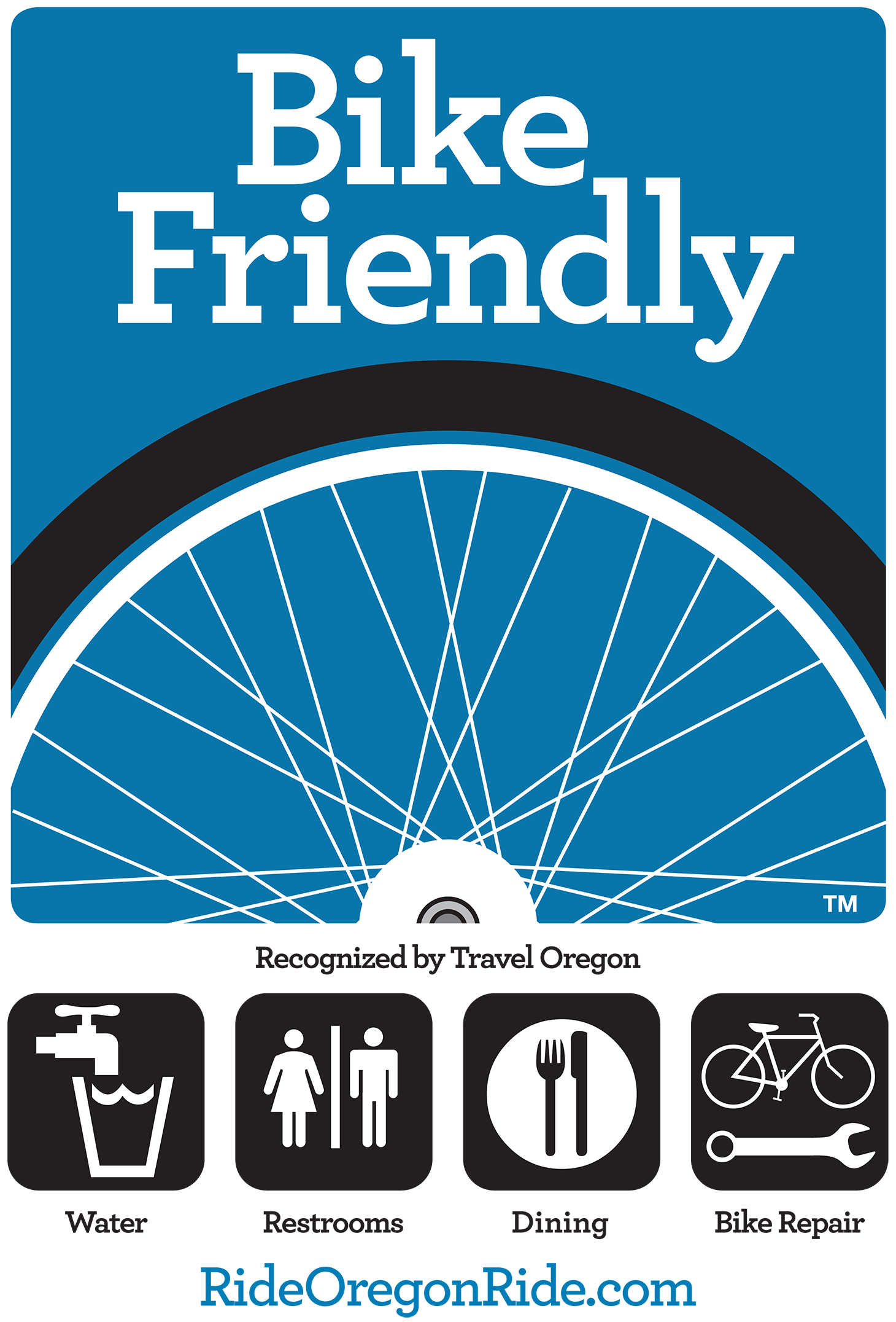 Customize your Bike Friendly sign with the specific amenities your business offers.