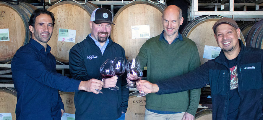 Celebrating with Wine at Willamette Valley Vineyard