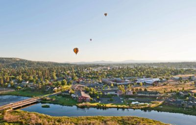 Hot air balloons over Bend
